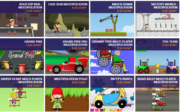 Free multiplication math games - Times table racing car game ...
