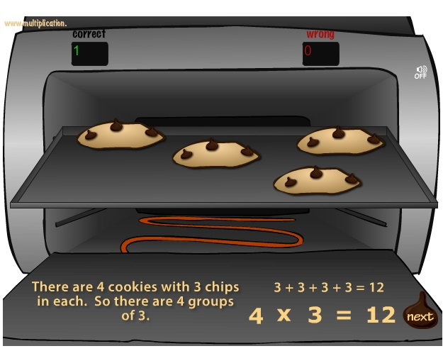 Carls Cookies - Free Learning Math Game | Multiplication.com