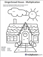 Free Christmas Multiplication Coloring Worksheets | multiplication.com