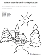 math worksheet : free christmas multiplication coloring worksheets  multiplication  : Multiplication Color Worksheet