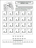 Printables Halloween Multiplication Worksheets free halloween multiplication worksheets com worksheets