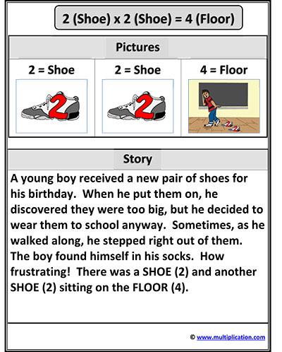 free multiplication stories for kids 2x2 4. Black Bedroom Furniture Sets. Home Design Ideas