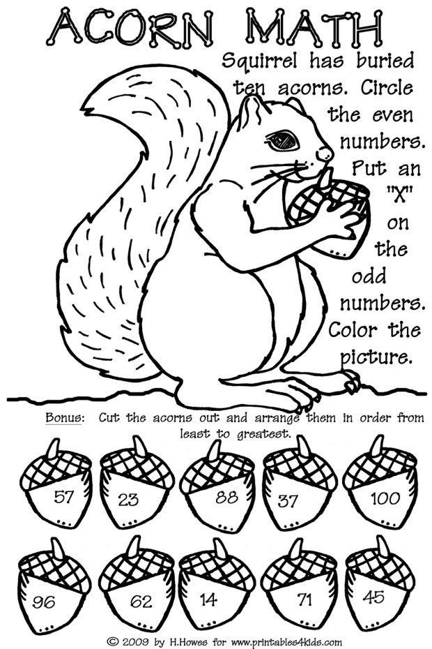 Scaredy squirrel by melanie watt and squirrel math activities for Scaredy squirrel coloring pages