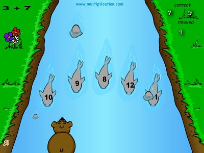 Catch the Right Fish in Baxley the Bear Addition | Multiplication.com