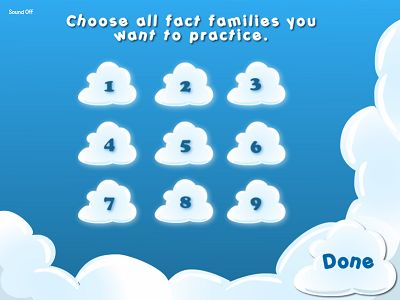 Choose a Fact Family for Flying High II Subtraction | Multiplication.com