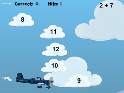 Find the Cloud with the Right Answer in Flying High Addition | Multiplication.com
