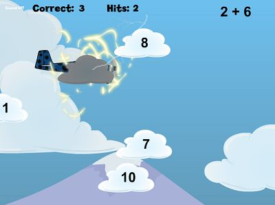 Watch Out for Lightning in Flying High Addition | Multiplication.com