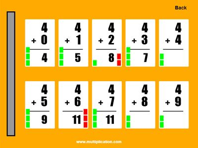 Practice the Addition Facts with Quick Flash II Addition | Multiplication.com