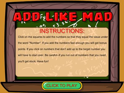 Welcome to Add Like Mad | Multiplication.com