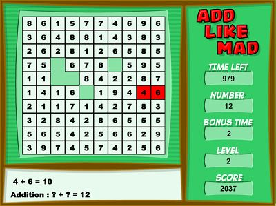 Challenge Yourself with Add Like Mad | Multiplication.com