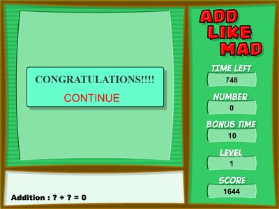 Conquer the Levels in Add Like Mad | Multiplication.com