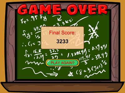 Game Over in Add Like Mad | Multiplication.com