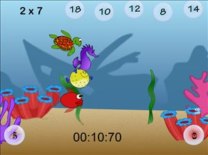 Solve the Facts in Aquatic Speedway Multiplication | Multiplication.com