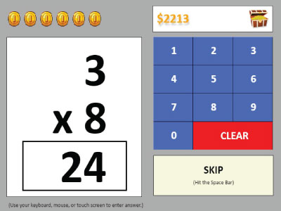 Multiplication Coin Quiz