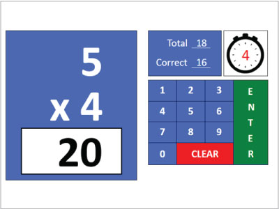 Multiplication Quick Quiz