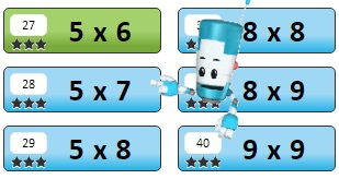 Blue Lessons | Multiplication.com