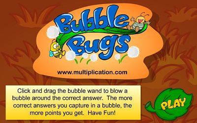 Welcome to Bubble Bugs Division | Multiplication.com