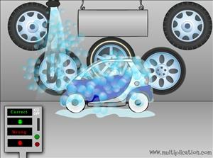 Make Those Cars Sparkle in Car Wash Multiplication | Multiplication.com