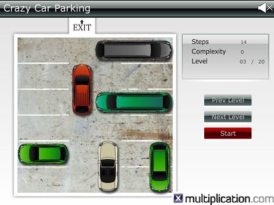 Get the Red Car out of the Lot to win in Crazy Car Parking | Multiplication.com
