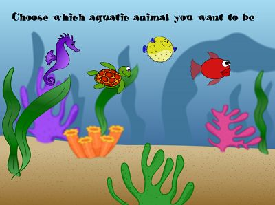 Pick a Sea Creature to Race with in Aquatic Speedway Division | Multiplication.com
