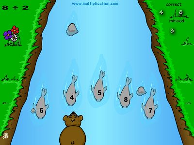 Practice Division Facts in Baxley the Bear Division | Multiplication.com