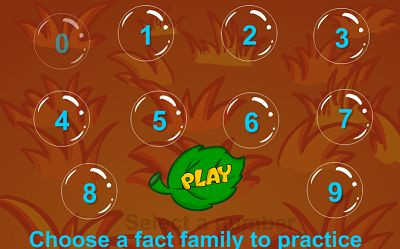 Choose a Fact Family in Bubble Bugs Division | Multiplication.com