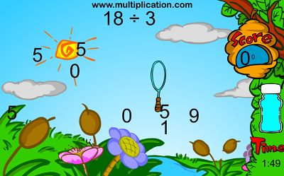 Blow Bubbles to Catch the Answers in Bubble Bugs Division | Multiplication.com