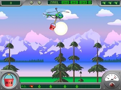 Soar Over the Forest in Chopper Challenge Forest Fire Division | Multiplication.com