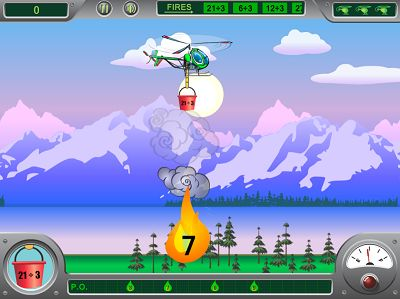 Put out the Right Fire in Chopper Challenge Forest Fire Division | Multiplication.com