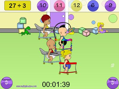 Solve the Problems to get Ahead in Diaper Derby Division | Multiplication.com