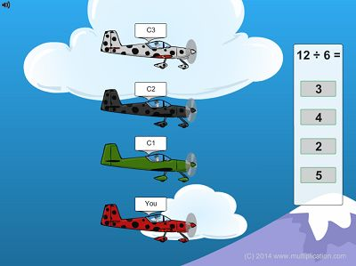 Solve the Facts to get Ahead in Flying High Division | Multiplication.com