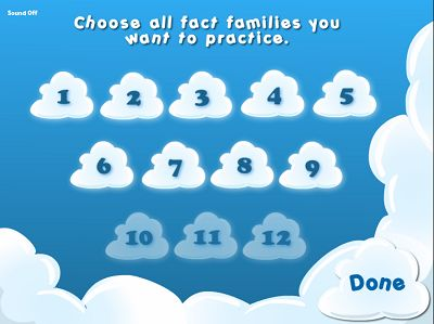 Choose Fact Families in Flying High Divsion | Multiplication.com