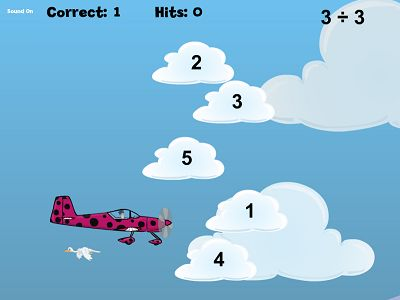 Practice Division Facts in Flying High Division | Multiplication.com