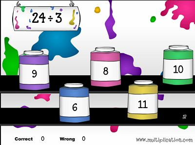 Solve Division Problems in Patty's Paints Division | Multiplication.com
