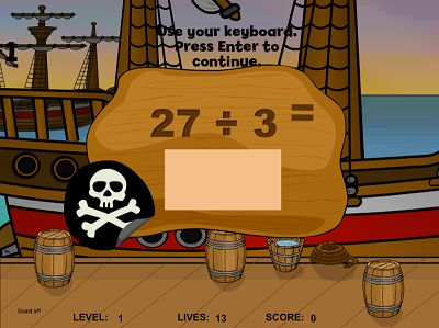 Practice the Facts in Pirates II Division | Multiplication.com