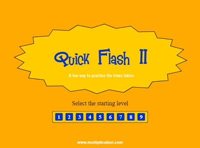 Welcome to Quick Flash II Division | Multiplication.com