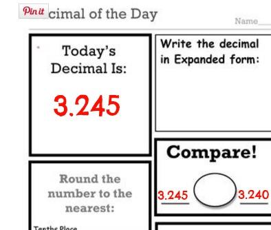 math worksheet : decimal fraction and number of the day worksheets : Decimal Models Worksheets