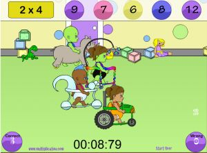 Solve the Facts the Fastest to Win in Diaper Derby Addition | Multiplication.com