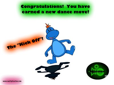 Earn Dance Moves in Disco Dino | Multiplication.com