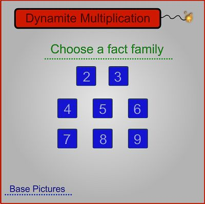 Choose a Fact Family in Dynamite Multiplication II | Multiplication.com