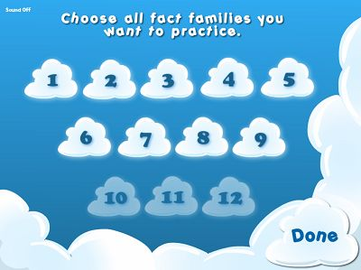 Choose a Fact Family in Flying High Multiplication | Multiplication.com