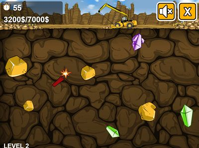 Collect Gold and Gems in Gold Miner | Multiplication.com