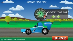 Grand Prix Pro Car Selection