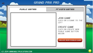 Grand Prix Pro Multiplication Free line Math Game