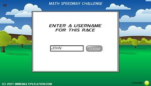 Pick a Username in Math Speedway Challenge Division | Multiplication.com
