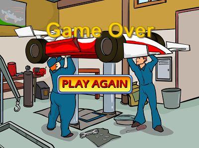 Game Over in Hypervelocity Racer II | Multiplication.com
