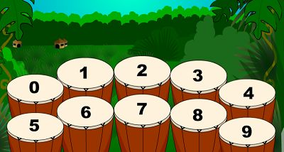Choose a Fact for Jungle Jim Plays the Drums | Multiplication.com
