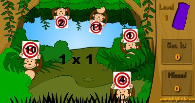Target Practice with the Monkeys in Jungle Jim | Multiplication.com