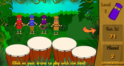 Rock the Drums with the Village Band in Jungle Jim | Multiplication.com