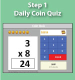Daily Coin Quiz - Multiplication.com